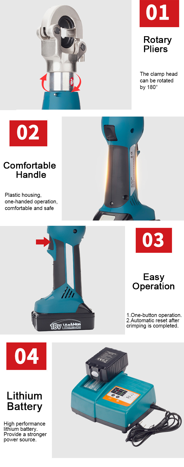 Electric Battery Powered Hydraulic Crimping Tool Price