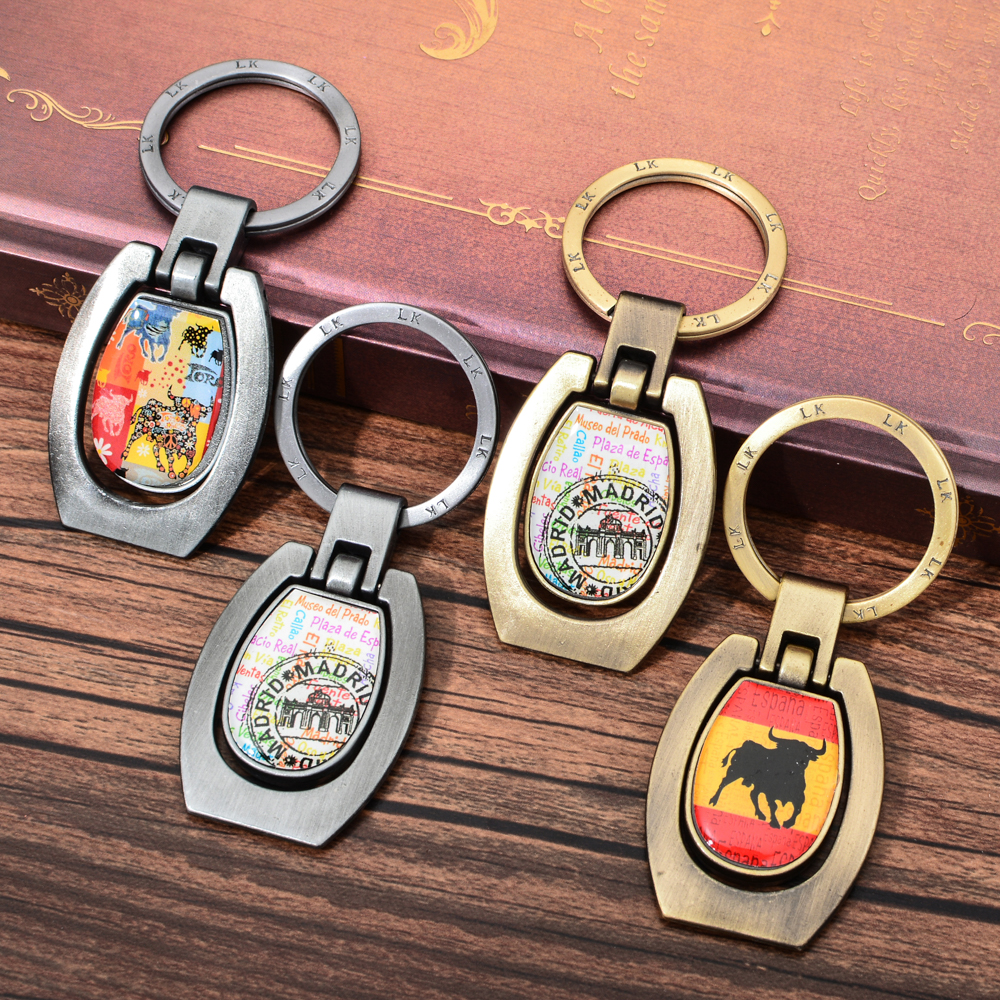 Customized animal polyresine Logo opener keychain zinc alloy Metal custom Keychain