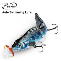 Peche Pesca Isca artificial 10cm 57.4g 4 Segmented electric fishing lure hard plastic fishing tackle carp fishing bait gear