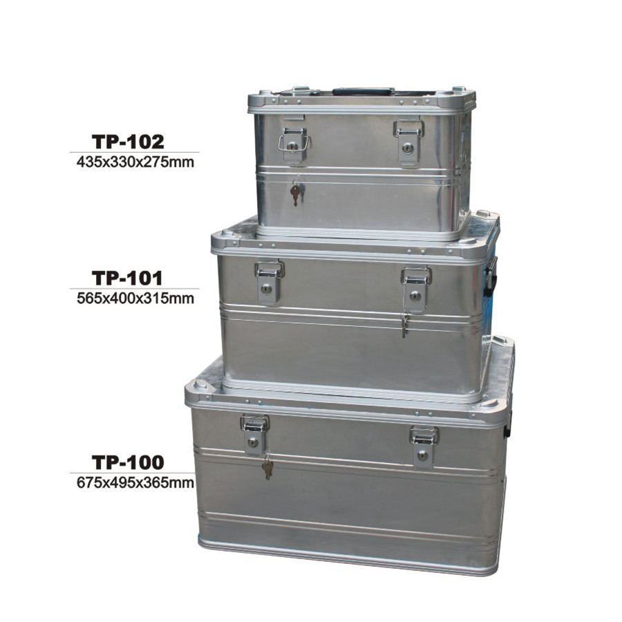 Zarges Aluminum Shipping and Storage Case 47-3/<strong>16</strong>&quot;<strong>L</strong> x 31-1/2&quot;W x 20-1/8&quot;H Silver