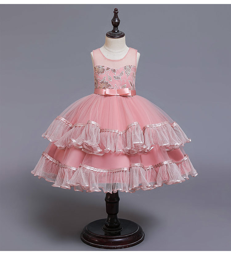 Hot Sell Latest Children Dress Designs Girls Boutique Clothing Lace Elegant Party Dresses <strong>A08</strong>