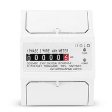 Two Wire Energy Counter <strong>Meter</strong> Analog kWh 5-100A 230V AC 50Hz Power <strong>Meter</strong> Household Electric Din Rail Mount