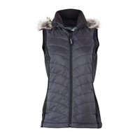 5V Rechargeable Battery Heated Vest Winter vestr Windproof Smart Heated Clothing Thermal Waistcoat with Fur Lined Hood