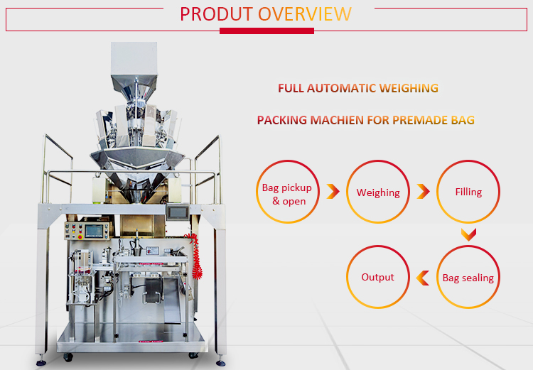 Automatic dried mango fruit zip lock pouch bag packing machine