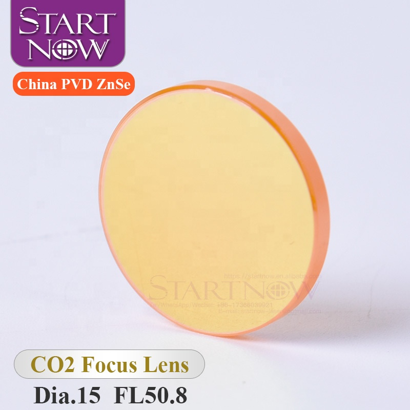Startnow Laser Carving Cutting Machine Lens Dia.15 F50.8mm Dia 15 F50.8 <strong>D15</strong> F2&quot; High Quality CO2 China PVD ZnSe Laser Focus Lens