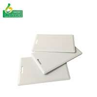 CR80 RFID PVC card number printable white blank smart card