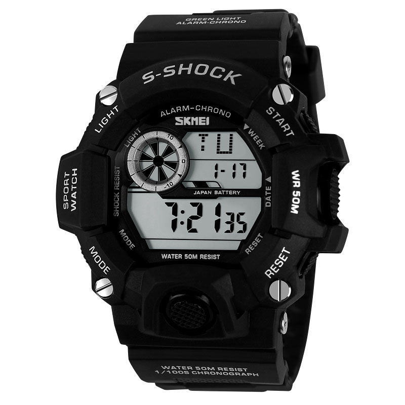 SKMEI 1019 Man Digital Sport Watch Multi-function Back Light Outdoor Chronograph Watch