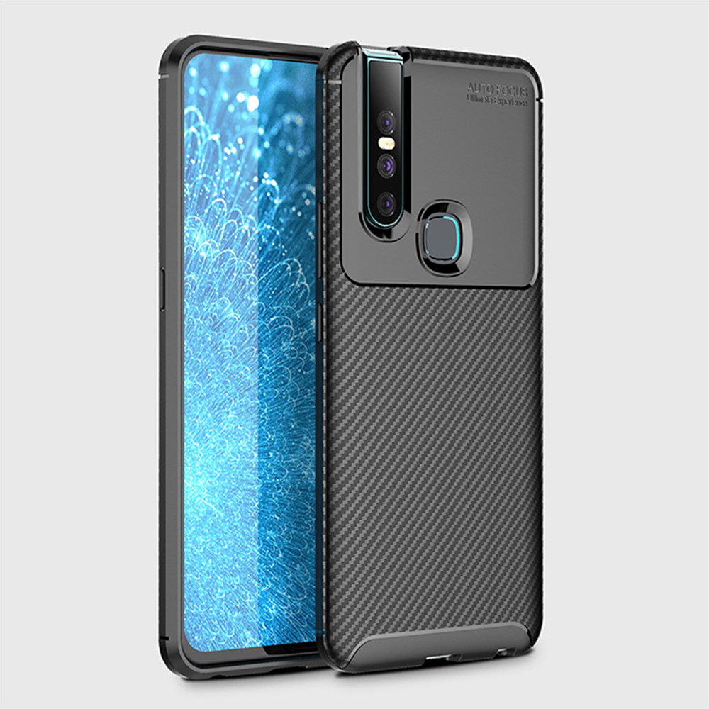 Free Shipping Laudtec Rugged Silicone TPU Cover Case For Vivo Carbon Fiber Bumper Cases For Vivo Y17/ <strong>Y3</strong>/ X27 Pro
