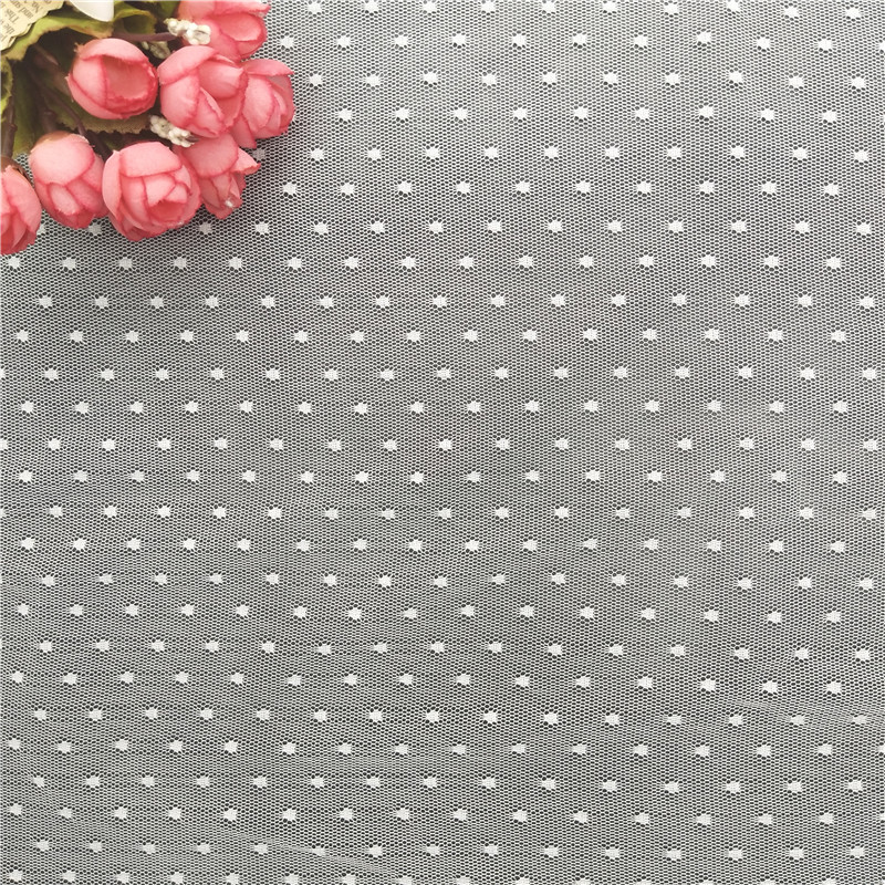 100% nylon net lace fabric dots