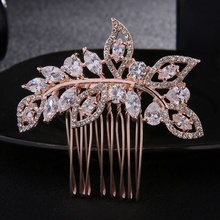 Wholesale new <strong>hair</strong> <strong>accessories</strong> 2016 high quality rhinestone zircon bridal <strong>hair</strong> comb