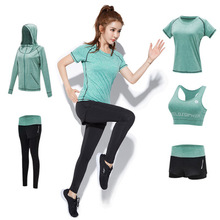 Womens Yoga Five 5 Pieces Set Training <strong>Sports</strong> Sets Female Workout Clothes for Women Sportswear Gym Training Clothing