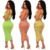 Ready to Ship African Women Summer Sexy Crop Top with Tight Pencil Skirt Two Pieces Skirt Set