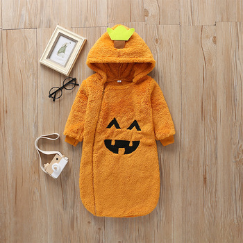 Winter Halloween Pumpkin Long Sleeve Baby Rompers Infant Kids Clothes Autumn Rompers Full Frock Bodysuits