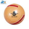china wholesale leather PVC leather football training soccer ball machine sewing