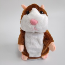 15cm voice record and repeat talking hamster