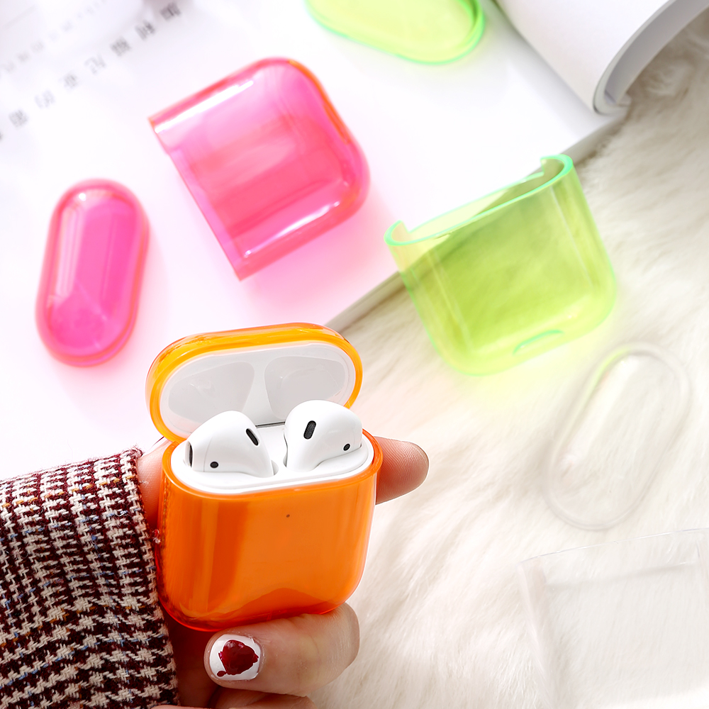 Transparent candy <strong>case</strong> cover hard Protect shell for Airpods 1/2 general hot sell