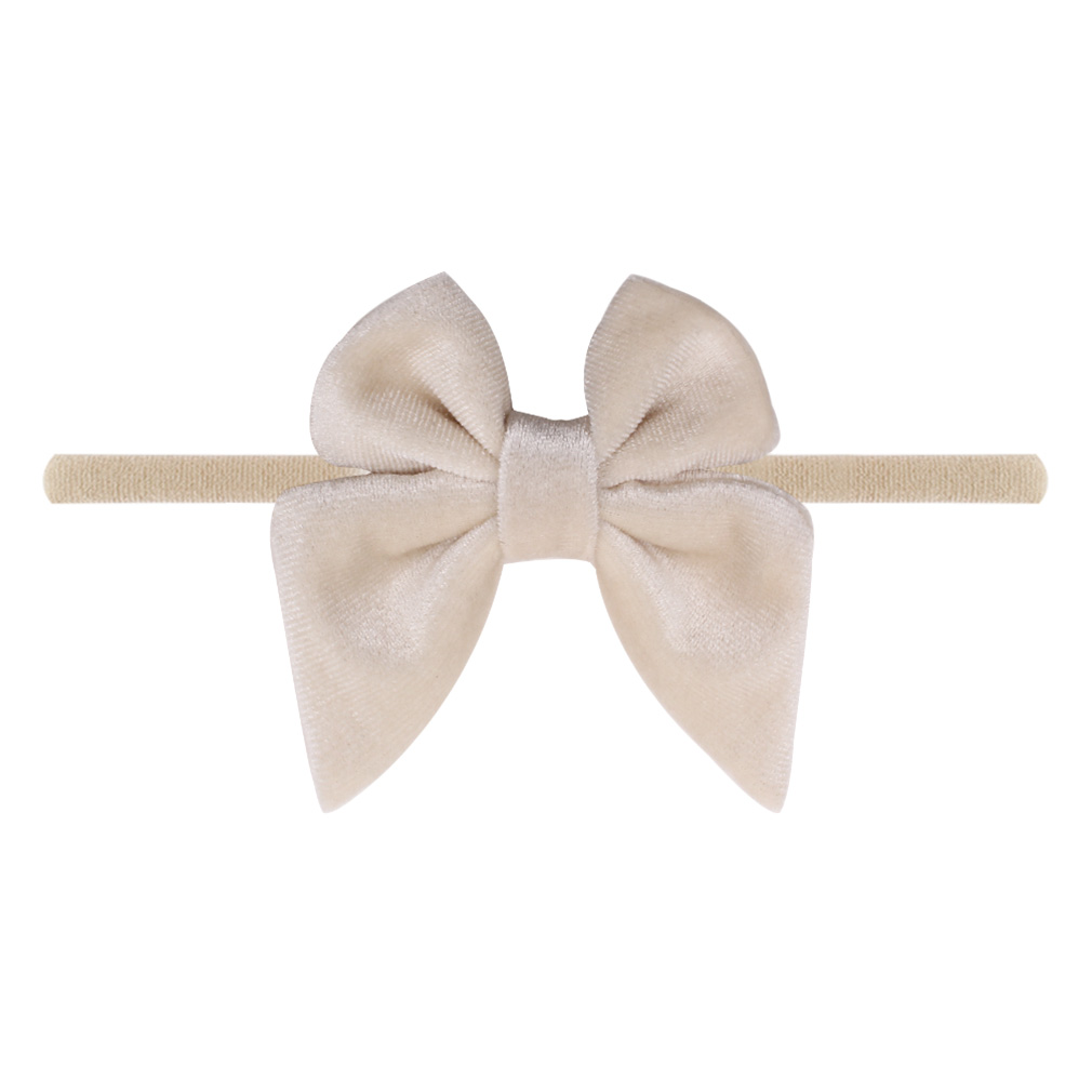 "Baby Headband 3"" Velvet Sailor Bow Elastic Nylon Headwear 2020 Fashion DIY Hair Accessories"
