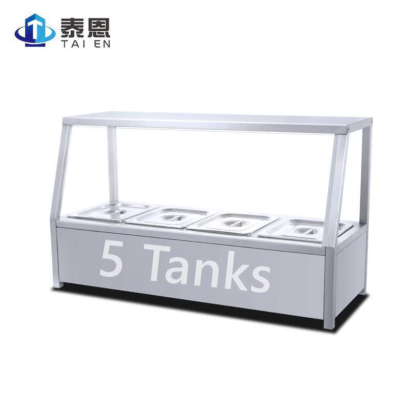 Stainless Steel Commercial Counter top Electric Food Warmer Soup Bain Marie with Glass Cover