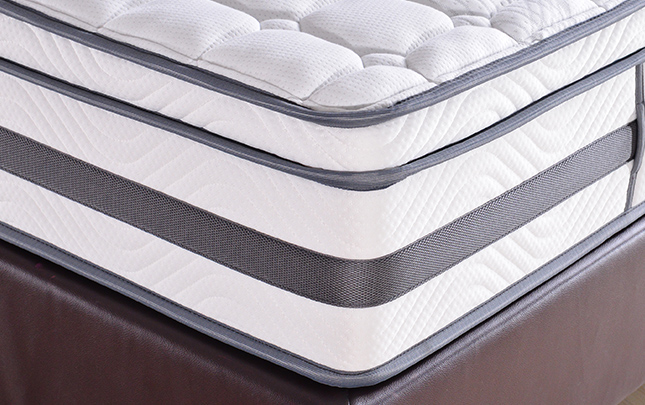 Queen size Euro top white hot selling Gel memory foam 5 zone pocket coil mattress with foam encasement for home - Jozy Mattress | Jozy.net