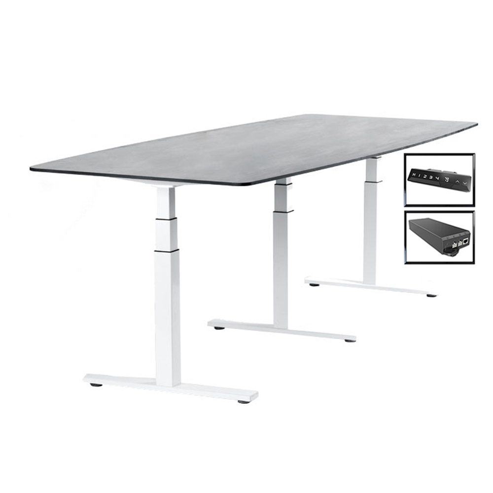 Best 180 Degree <strong>3</strong> leg adjustable electric Height Adjustable Office Desk