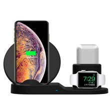10W Fast Wireless Charger, New 3 In 1 Wireless Charger for iPhone Smartphone Apple Watch with <strong>CE</strong>,FCC,ROHS Certificate