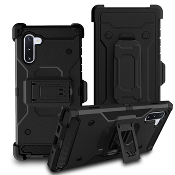 Military Grade Rugged Shock Proof Back Clip PC Phone Cases For Samsung Note 10