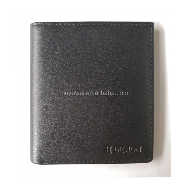 Slim thin soft genuine leather credit card men wallet custom brand logo hot selling
