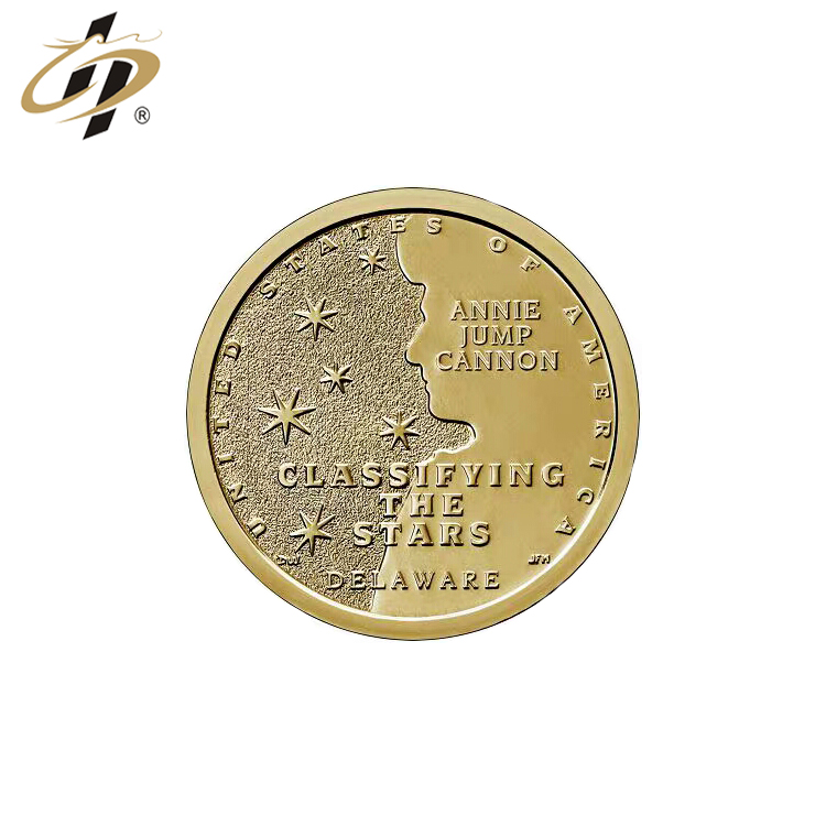 Wholesale high quantity custom 999 pure gold 3D souvenir metal coin