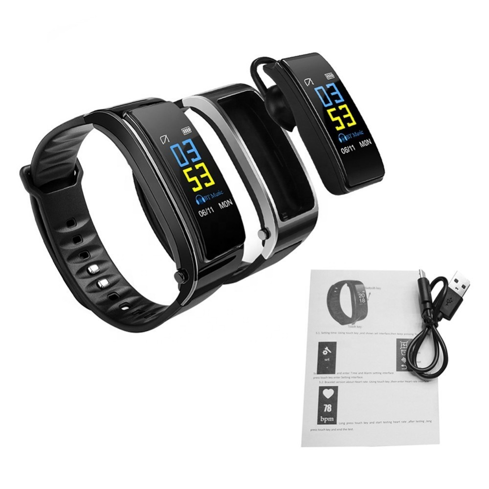 <strong>Y3</strong> Plus Smart Watch with Talk Earphone Heart Rate Sleep Monitor Bluetooth Call Business Smart Headset