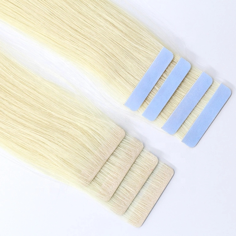 Aligned Human Hair Tape in Hair Extension, Custom Adhesives Tape tape in hair extensions, Weft Invisible tape hair extension