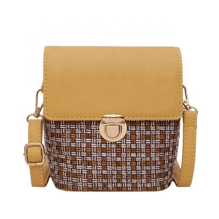 Womens Straw Woven Small lady <strong>Bag</strong> Shoulder Messenger <strong>bag</strong> Cross Body <strong>Bag</strong>