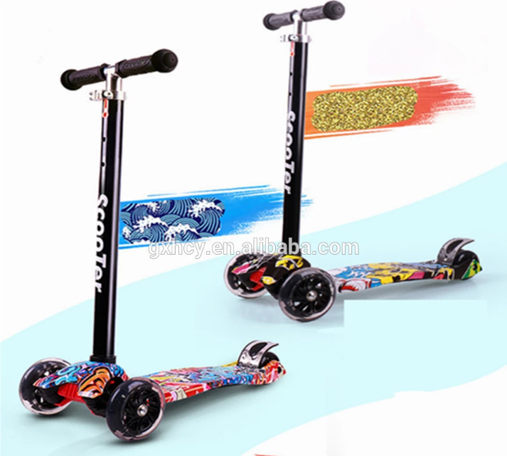 2019 new style kids scooter 3 wheels children foot scooter
