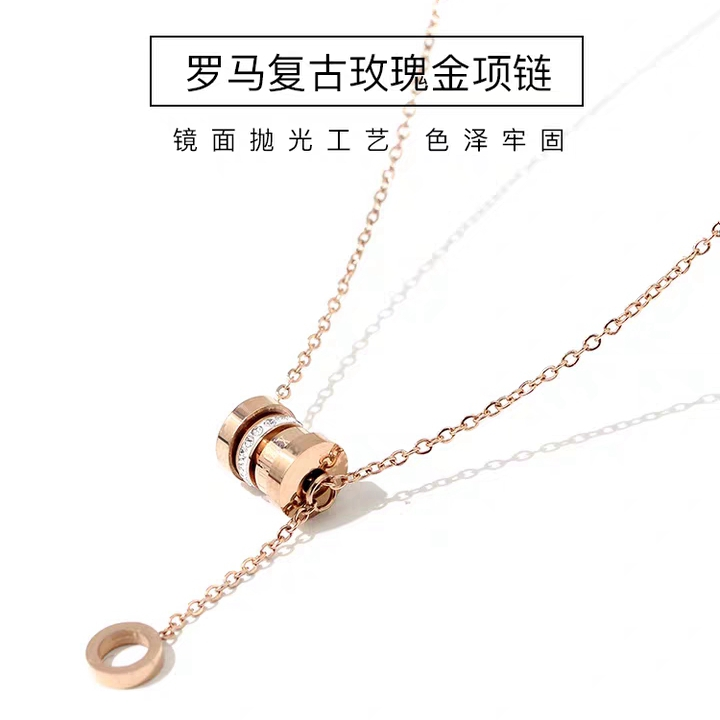 SHX015 2020 Fashion charm colorful stainless steel Necklace Women Fashion Jewelry Heart Titanium Pendant Necklace for girls