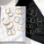 Hot selling best prices round plated gold fashion earrings jewelry