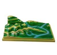 Contour topographic map model for geography teaching