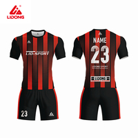 Breathable Low Moq Custom Shirt Maker Jersey Set Football Wholesale Soccer+wear Soccer Uniforms for sale