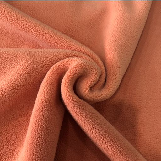 Super soft polar fleece fabric for blankes  manufacturer warp knitting polyester fabric