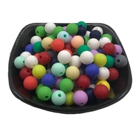 wholesale food grade 9mm-19mm round teether silicone beads for baby chewing