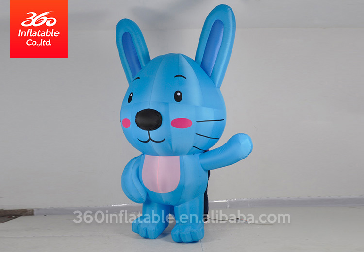 Customized advertising giant inflatable led colorful rabbit/inflatable cartoon rabbit inflatable easter bunny with led light