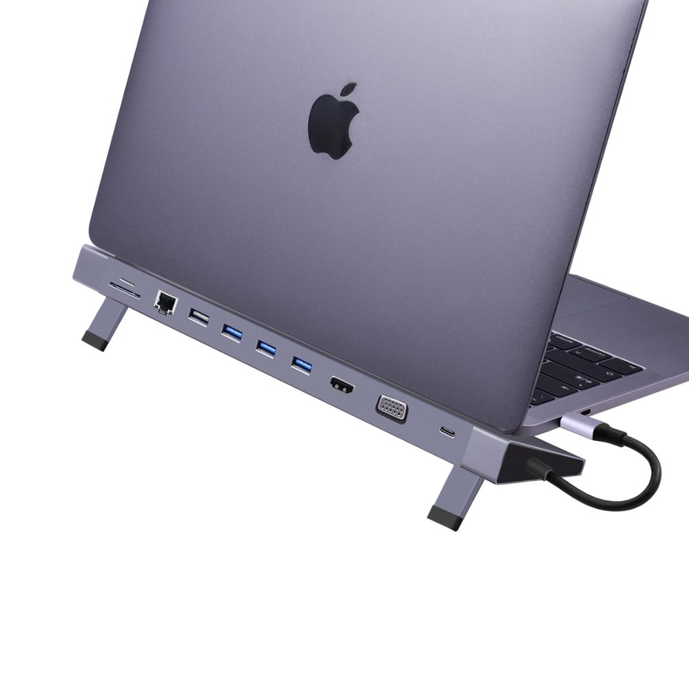 usb hub for macbook dock usb <strong>c</strong> <strong>11</strong>- in - 1 factorial hub with great price usb <strong>c</strong> multi adapter