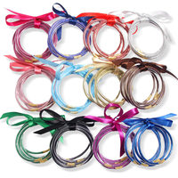New Design 16 Colors Women Bowknot Christmas Silicone Shiny Glitter Filled Jelly Bangles Bracelet