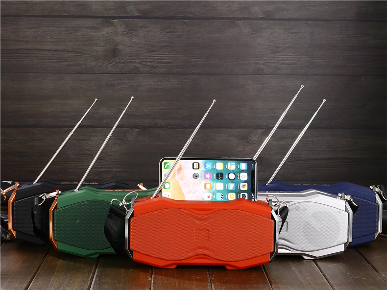 Stereo wireless portable speaker large battery capacity small factory price speaker with phone stand