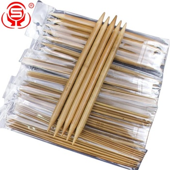 Bamboo Double Pointed Knitting Needles Set Bamboo Knitting Needles for Sweater Weaving