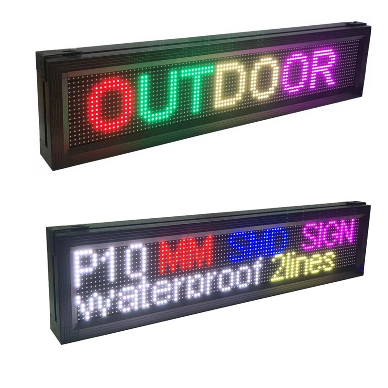 Outdoor <strong>P10</strong> led moving <strong>sign</strong> mini led display scrolling messages board for shop