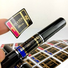 Lipgloss Label Sticker Custom Brand Name <strong>Logo</strong> Label Sticker for Roll Packaging
