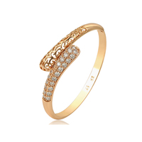 52471 Xuping jewelry new design gold fashion multi white stone bangles for women
