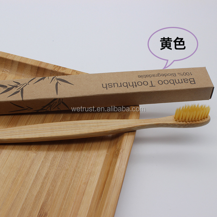 Eco Friendly Teeth Whitening Natural Soft Bristle Charcoal Bamboo BIO Toothbrush