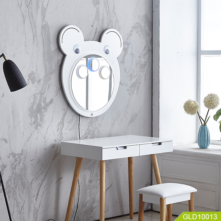 Children wall led  mirror with bluetooth speaker