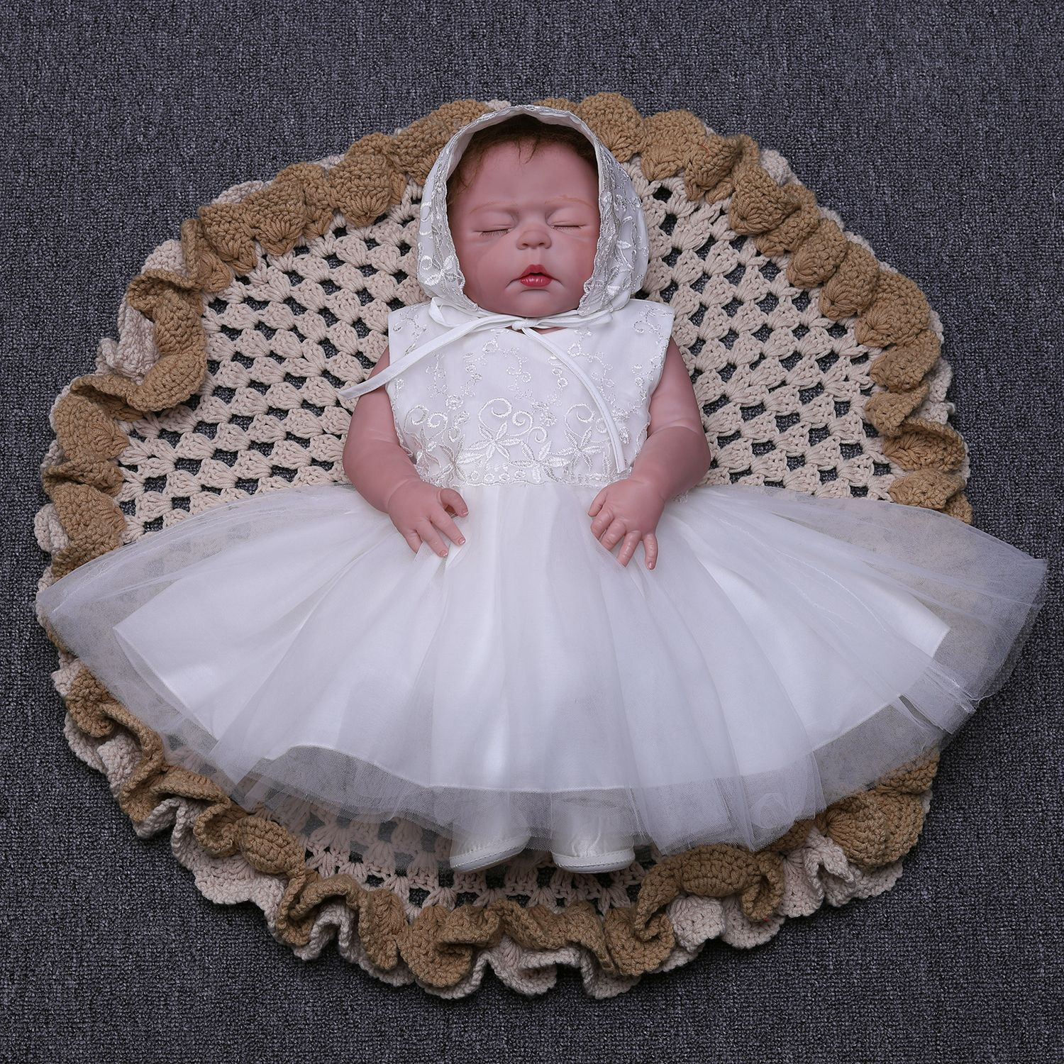 Hot New Kids Clothes Princess Designs Summer White Baby Girls Wedding Party Dresses With Hat