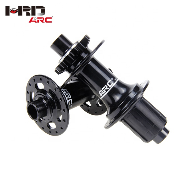 Ready to ship new arrive ARC logo 6 claws 3 teeth new product anode black MT-009F/R J-bend 11s MTB <strong>110</strong> /148 mm bicycle hub